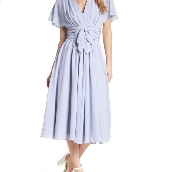 Gal meets Glam plus size chiffon dress Hydrangea